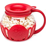 Ecolution Original Microwave Micro-Pop Popcorn Popper, Borosilicate Glass, 3-in-1 Silicone Lid, Dishwasher Safe, BPA Free, 1.