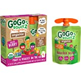 GoGo squeeZ Organic fruit & veggieZ, Apple Mixed Berry Carrot, 3.2 Ounce (4 Pouches), Gluten Free, Vegan Friendly, Unsweetene