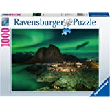 Ravensburger Northern Lights Over Hamnoy Norway 1000 Piece Jigsaw Puzzles for Adults & Kids Age 14 Years Up - Landscape Puzzl