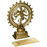 Hindu God Deity Shiva Dancing Nataraja Natraj Brass Statue Sculpture For Home Decor Temple Mandir 6