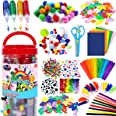 FunzBo Arts and Crafts Supplies for Kids - Craft Art Supply Kit for Toddlers Age 4 5 6 7 8 9 - All in One D.I.Y. Crafting Sch