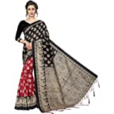 CRAFTSTRIBE Indian Traditional Bollywood Art Silk Saree Printed Sari for Women Party Wear Fabric Dress