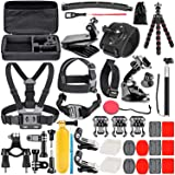 Neewer Upgraded 50-in-1 Action Camera Accessory Kit Compatible with GoPro Hero 9 8 Max 7 6 5 Black GoPro 2018 Session Fusion