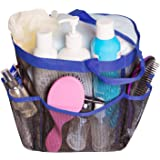 Attmu Mesh Shower Caddy, Quick Dry Shower Tote Bag Oxford Hanging Toiletry and Bath Organizer with 8 Storage Compartments for
