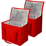2 Insulated Reusable Grocery Bag with Zippered Top, XL, Large, Frozen Foods Cold, Cooler Shopping Accessories, Insullated Bag