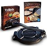 Tortillada – Premium Cast Iron Tortilla Press with Recipes E-Book (25cm)