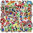 100Pack Super Mario Bros Stickers Set Random Sticker Decals for Water Bottle Laptop Cellphone Bicycle Motorcycle Car Bumper L