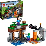 LEGO Minecraft The Abandoned Mine 21166 Zombie Cave Battle Playset with Minecraft Action Figures and a Toy Spider, New 2021 (