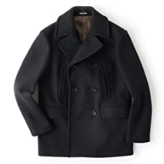 Todd Snyder Melton Peacoat: Black