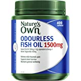 Nature's Own Odourless Fish Oil 1500mg - Naturally-derived omega-3 - Maintains general health and wellbeing, 400 Capsules