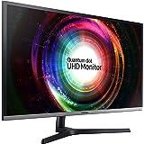 Samsung UH850 Series 31.5 inch 4K QHD 3840x2160 QLED Desktop Monitor for Business, AMD FreeSync, DisplayPort, USB Hub, 3-Year