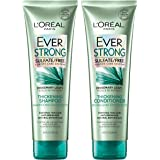 L'Oreal Paris Hair Care EverStrong Thickening Sulfate Free Shampoo & Conditioner Kit, Thickens + Strengthens, For Thin, Fragi