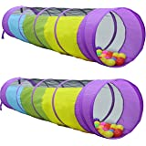 Kiddey Multicolored Play Tunnel for Kids (6') – Crawl and Explore Tent, with See Through Mesh Sides, Promotes Healthy Fitness