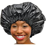 XL Shower Cap - Adjustable & WaterProof By Simply Elegant: The Satin Dream Jumbo ShowerCap X-Large and Extra Cute - The Best