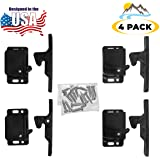 Camp'N - (Pack of 4) Push Catch - Latch - Grabber - Holder for Cabinet Doors with Mounting Hardware - 5 lbs Pull Force - Perf