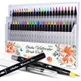 Watercolor Brush Markers Pen, Ohuhu Water Based Drawing Marker Brushes W/A Water Coloring Brush, Water Soluble for Adult Colo
