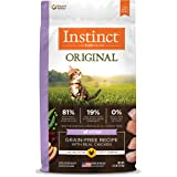 Instinct 6175875 Original Grain-Free Recipe with Real Chicken Dry Food for Kittens, 4.5lb