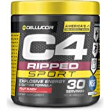 C4 Ripped Sport Pre Workout Powder Fruit Punch, NSF Certified for Sport + Sugar Free Preworkout Energy Supplement for Men & W