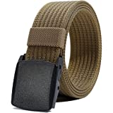 Nylon Belt for Men, Military Tactical Belt with YKK Plastic Buckle, Durable Breathable Waist Belt for Work Outdoor Cycling Hi
