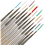 (1 Pack) - Detail Paint Brush (Set of 12) - Miniature Art Brushes for Fine Detailing & Art Painting Media: Acrylic, Watercolo