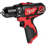 Milwaukee M12 12V 3/8-Inch Drill Driver (2407-20) (Bare Tool Only - Battery, Charger, and Accessories Not Included), Multicol