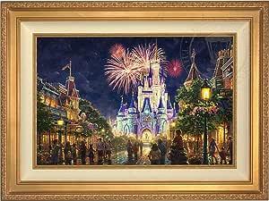 """メインストリートu.s.a.、® Walt Disney World ®–Thomas Kinkadeディズニー18"""" x 27""""ギャラリーProof (GP) Limited Editionキャンバス 37Lx28H ゴールド"""