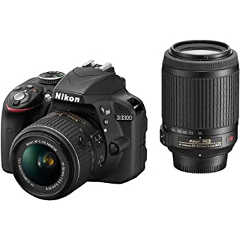 Nikon デジタル一眼レフカメラ D3300 ダブルズームキット ブラック D3300WZBK