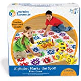Learning Resources LER0394 Alphabet Marks The Spot Floor Mat 4-1/2 ft L x 4-1/2 ft W in