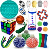 Sensory Fidget Toys Set 26 Pack – Fidget Pack For Stress Relief Anti-Anxiety Tools – Stretchy and Handy Squeezy Sensory Toys