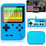 Retro Handheld Game Console With Protector Case, 400 Free Classical FC Games Support for Connecting TV & Two Players, Portabl