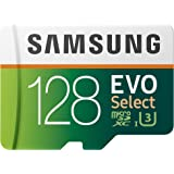 SAMSUNG MB-ME128HA/AM 128GB 100MB/s (U3) MicroSD EVO Select Memory Card with Adapter,128 GB
