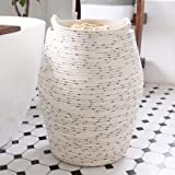 Large Laundry Hamper - Cotton Rope Woven Tall Clothes Hamper Basket 22 Inch Height