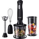 Russell Hobbs RHSM5BLK, Desire Hand Blender, Dishwasher Safe and Detachable Parts, 2 Speeds and Pulse, Matte Black