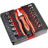Amazonベーシック 磁気ラチェットレンチ・ドライバーセット 23ピース