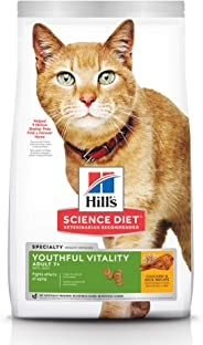 Hill's Science Diet Adult 7+ Youthful Vitality Chicken & Rice Recipe Senior Dry Cat Food 1.36kg Bag