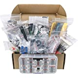 Interstellar Electronics Components Assortment Kit, Grab Bag, IC, Opamp,Resistors, Polyester Capacitors, LED, PCB, Diodes, Tr