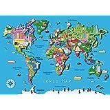 300ピースの木のパズル-世界地図、大人と子供のパズル、プレゼント