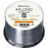 【Amazon.co.jp限定】Verbatim バーベイタム 音楽用 CD-R 80分 50枚 シルバーレーベル インデックスカード付き AR80F50L-A