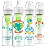 Dr. Brown's Options + Baby Bottles, 8 Ounce, Narrow Bottle,Dream/ Adventure, 4 Count