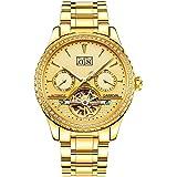 CARNIVAL(カーニバル) 8731G メンズ アナログ機械式 腕時計 ダイヤ装飾 (ゴールド/ゴールド/ゴールドメ…
