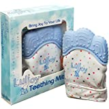 LuliJoy Teething Mitten Set of 2 – Baby Glove Teether Toys for Boys & Girls – Adjustable Strap Stays on Infant Hands – BPA-Fr