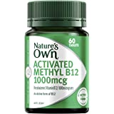 Nature's Own Activated Methyl B12 1000mcg - Maintains Vitamin B12 Levels in a Normal Range - Contains Mecobalamin, 60 Tablets