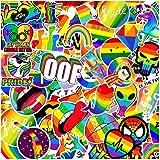 100 Packs Rainbow Gay Pride Stickers Water Bottles Laptop Phone Car Motorcycle Computer Guitar Skateboard HydroflasksVinyl S