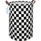 LANGYASHAN Large Storage Bin,Ramie Cotton/Canvas Fabric Folding Storage Basket with Handles- Toy Box/Toy Storage/Toy Organize