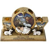 23cm Advent Candle Holder - Advent Wreath - Baby Jesus and Barn Animals