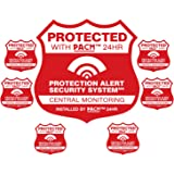 Home Security System Alarm Yard Sign & 6 Alarm Static Cling Stickers Red PACM