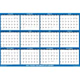 """32"""" x 48"""" SwiftGlimpse 2021 Wall Calendar Erasable Large XL Wet & Dry Erase Laminated 12 Month Annual Yearly Wall Planner, Re"""