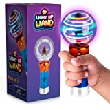 Spinning Light-Up Wand for Kids in Gift Box, Rotating LED Toy Wand for Boys and Girls, Magic Princess Sensory Toys for Autist