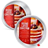 "Crown Cake Pans 6 Inch Round, 2"" deep, 2 Pack, Professional Quality Baking Pans, Heavy Duty, Food-Grade Aluminum, Easy Clean"
