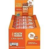 HEALTH WARRIOR Chia Bars, Chocolate Peanut Butter, Gluten Free, Vegan, 25g Bars, 15 Count